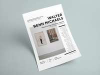 Walter Benn Michaels • MU Poster
