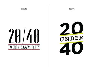 20 Under 40 - Logo Redesign twenty under forty 20 under 40 20u40 logo branding b2b missouri columbia business editorial columbia business times cbt