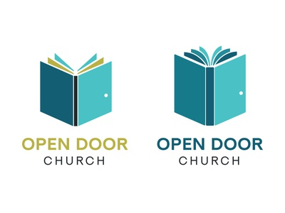 Open Door Church Logo - Rejects missouri columbia church identity logo branding reject