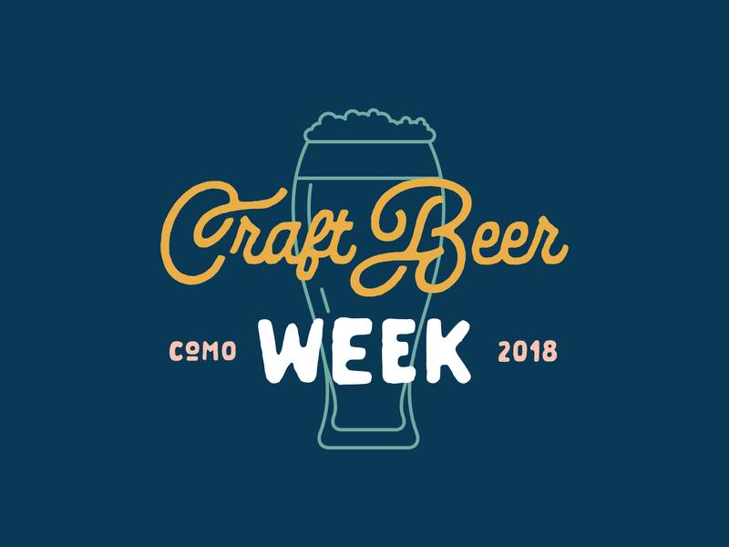 COMO Craft Beer Week 2018 - Reject craft beer week event identity beer missouri columbia typography logo craft beer branding rejects