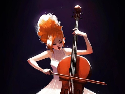 Cello Player cello music stage solo performance woman girl