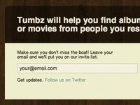 Tumbz Landing Page