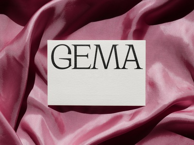 GEMA vintage mockup fashion clothes card stationery design logo print asis identity argentina branding