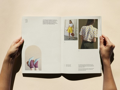 GEMA spread course mockup vintage lookbook catalogue spread fashion editorial design print asis identity argentina branding