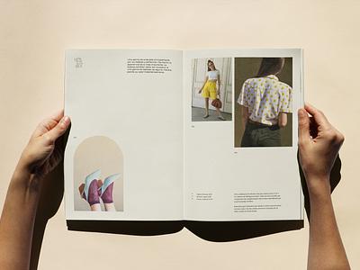 GEMA spread course mockup vintage lookbook catalogue spread fashion editorial design print asis identity argentina branding