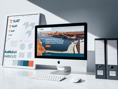 ILAT website poster imac ui asis identity argentina branding
