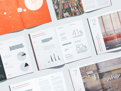 ILAT Annual Report Spreads annual report infographics editorial design print asis identity argentina branding