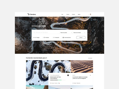 Sendera home platform search home website technology identity asis argentina ui
