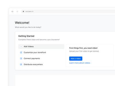 Steps exploration onboarding theme video blue simple icons white step add getting started steps ux ui