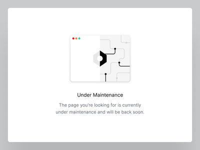 Under Maintenance 🔧 error 404 maintenance settings illustration empty state