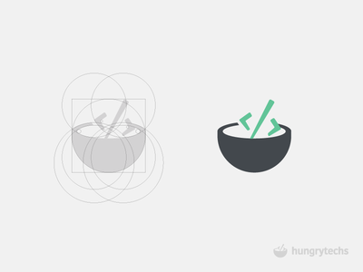 Hungry Techs Logo Design black sql green guidelines techies javascript java php html css code bowl