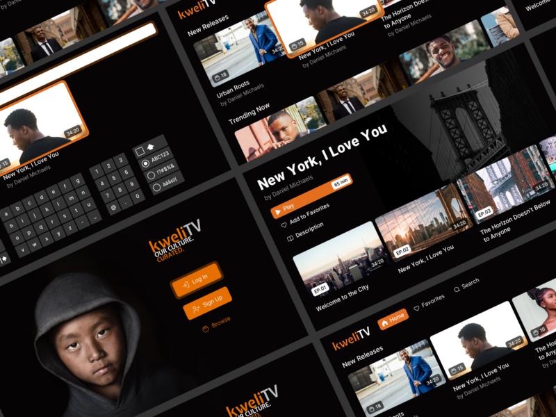 Roku TV App - Uscreen by Danilo Tanic on Dribbble
