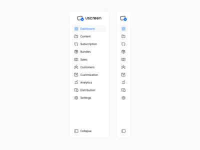 Sidebar - Uscreen