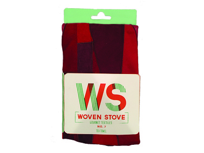 Woven Stove Tea Towel Packaging packaging branding