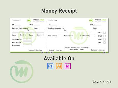Money Receipt Design design stationery adobe illustrator adobe minimalist stationery design print design corporate cheque abstract shop cash memo receipt money receipt memo cash memo