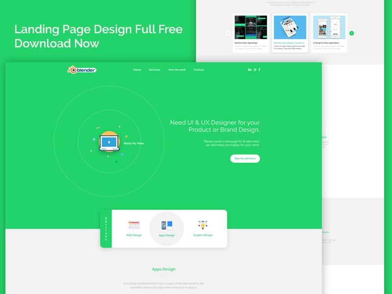 Freebie Landing Page Design