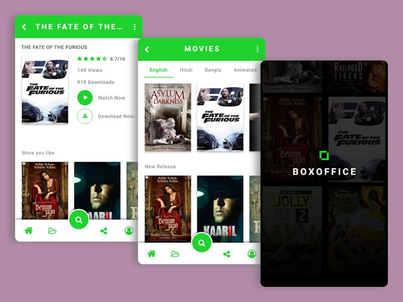 Freebie Mobile app UI xd app design ux cinema app movie ui