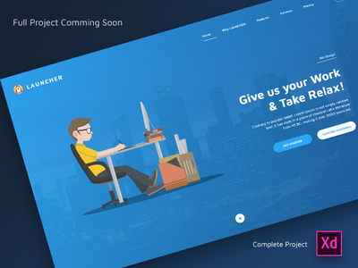 LAUNCHER fixed page design interaction web design fixed page ux ui