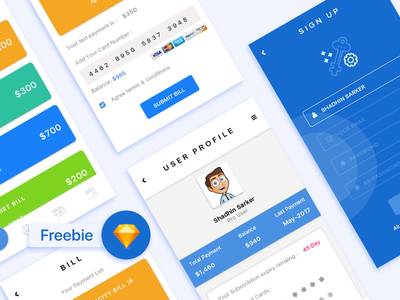 Payment apps Freebie app banking payment interaction ux ui