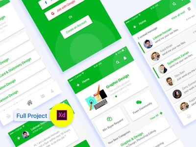 Fiverr Apps Concept