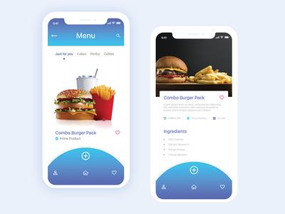 Food Menu Apps idea Exploration