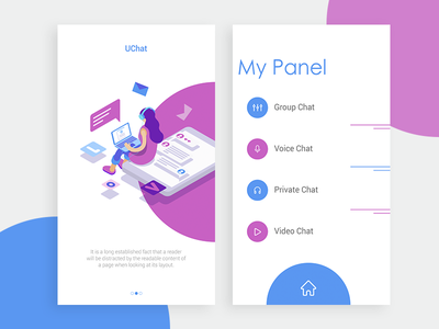 Chat App Exploration-2 ui ux app chat design interface colorful trendy