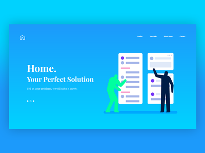 Home. Analyzing Solution Brand trendy colorful interface design brand ux web ui