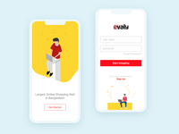 Evaly App 01 clean apps apps design minimal interaction design interface ux ui ecommerce evaly app