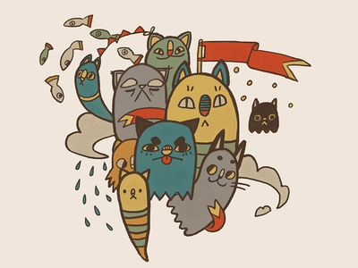 Floating Cat Parade?