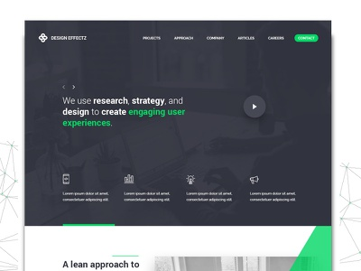 Minimal 2017 Landing Page 2017 minimal userexperience userexperiencedesign ui ux landingpage2017