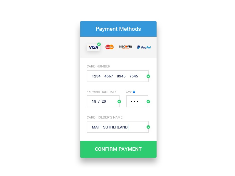 Payment Methods Mobile UI/UX ux ui mobile methods payment