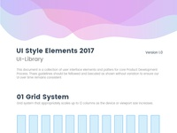 UI Style Guide / UI Library 2017