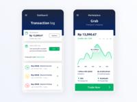 Marketplace for Trading Mobile App uxdesign dashboad trade mobile grab trading platform trading 2019 minimal ui ux