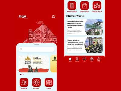 Yogyakarta - Tourism App ux tour wisata pesona indonesia indonesia yogyakarta travel tourism ui illustration branding design corona colors apple app design app concept application app uiux
