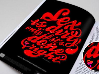 Fetish Freaks advertise typogaphy