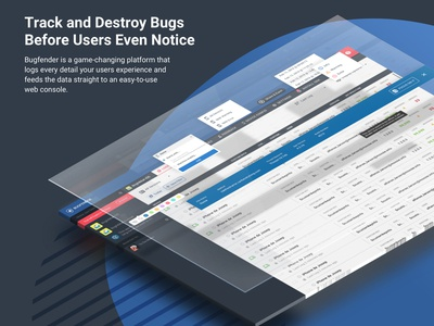 bugfender dashboad web design