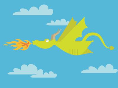 Dragon dragon vector fire