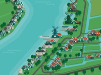 Zaanse schans map