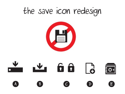 the save icon redesign icon save redesign