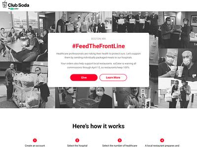 #FeedTheFrontLine clubsoda ezcater feedthefrontline covid19