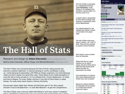 Hall of Stats Research Poster baseball statistics sabermetrics poster research sabr