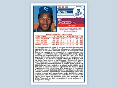 Bo Knows HTML & CSS html5 baseball card baseball kansas city royals bo jackson css html