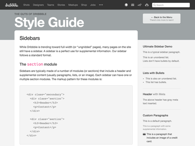 Guiding the Styles gray guts pattern library style guide dribbble