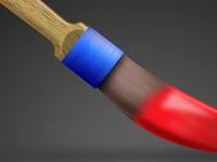 Striping Brush Detail