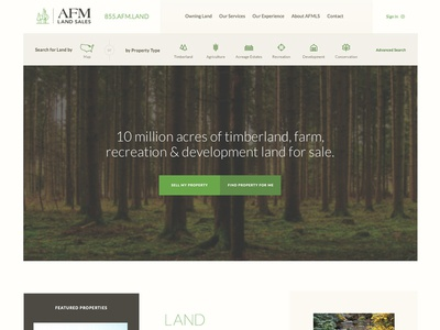 Land Sales Website clean modern real estate parallax site interactive ux ui website search filter property