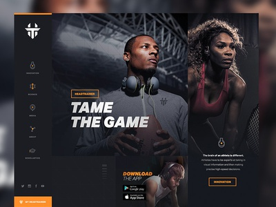Tame the Game app sports union comp interactive design pitch pitchwork ui web