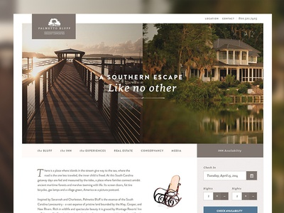 A Southern Escape travel union comp interactive design pitch pitchwork ui web