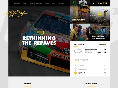 #thekbshow grid racing sports union website responsive ux ui interactive web design nascar