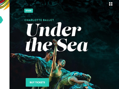 Under the Sea serif tickets feature type stage ballet events neutraface lust typography comp web