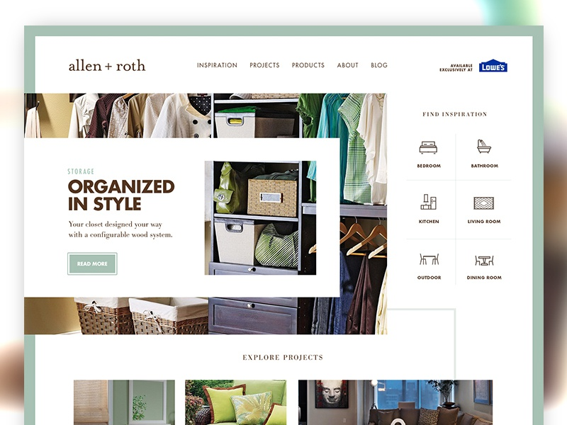 Organized in Style accessories decor home lifestyle blog products inspiration projects interactive ui ux web